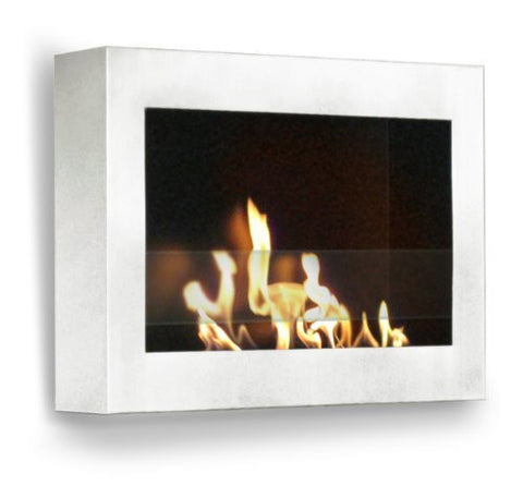 Anywhere Fireplace - SoHo Wall Mount Ethanol Fireplace (High Gloss White)