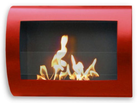 Anywhere Firepalce - Chelsea Red Model, Wall Mount Bio-ethanol Fireplace