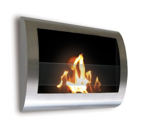 Anywhere Fireplace - Chelsea Stainless Steel Wall Mount Fireplace