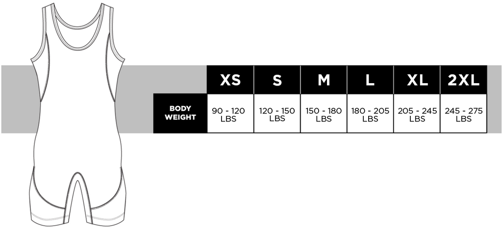 Singlet Sizing Guide