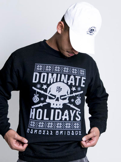 Dominate Holidays sweater from front.