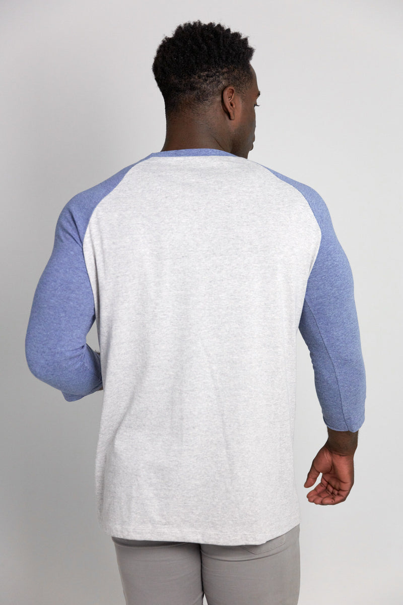 Rebirth Script - Raglan (Concrete Denim)