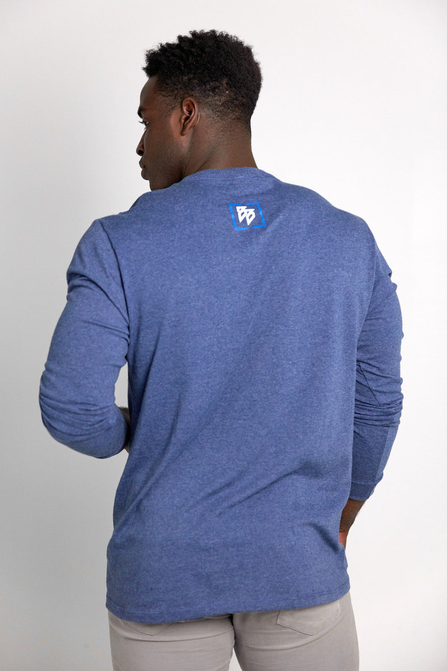 Copyright Block - Long Sleeve Tee (Navy Heather)
