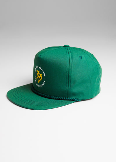 Subinfinite Hat in Green and yellow logo.