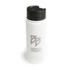 BB - 18oz Stainless Steel Bottle (White)