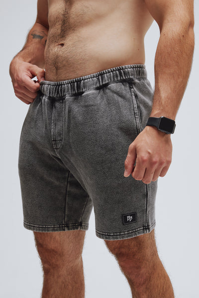 Comfy short in gray from side.