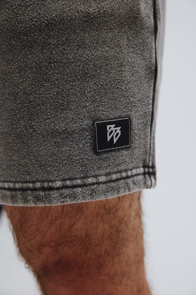 Comfy short in gray small logo in front.