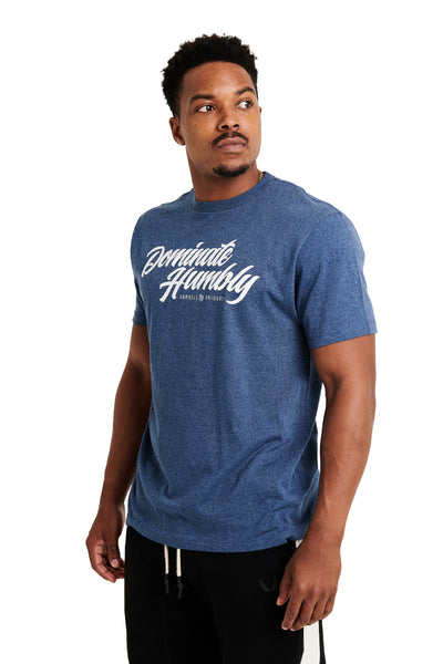 Humble Script - Tee (Navy Heather)