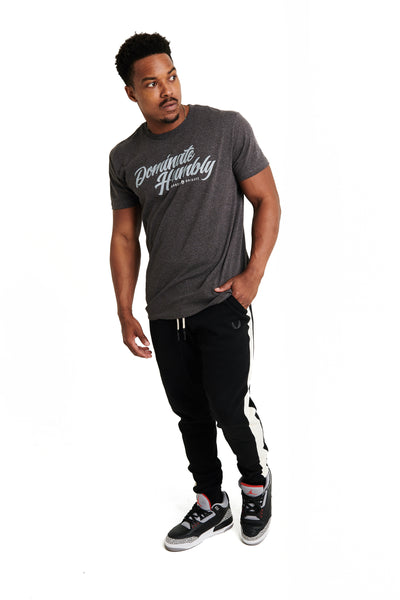 Humble Script - Tee (Charcoal Heather)