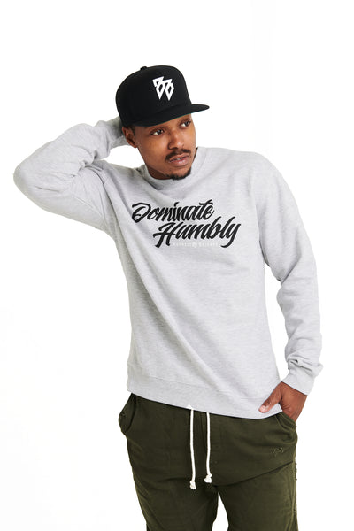 Humble Script - Crewneck Sweatshirt (Grey Heather)