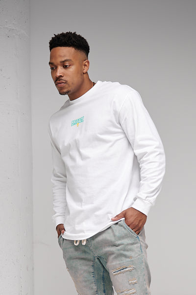Tracer Emblem - Long Sleeve Tee (White)