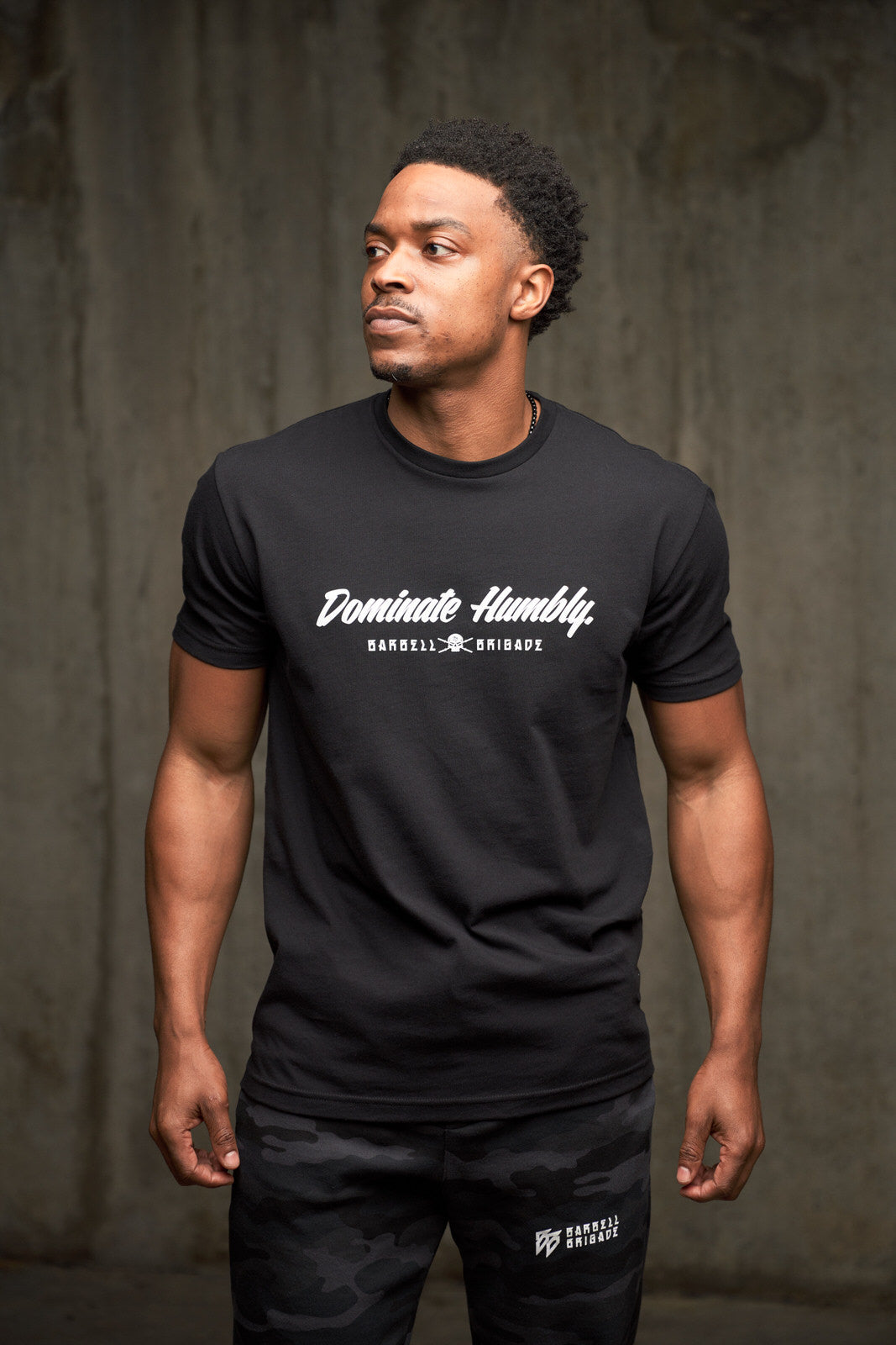 Dominate Humbly Script - Tee (Black)