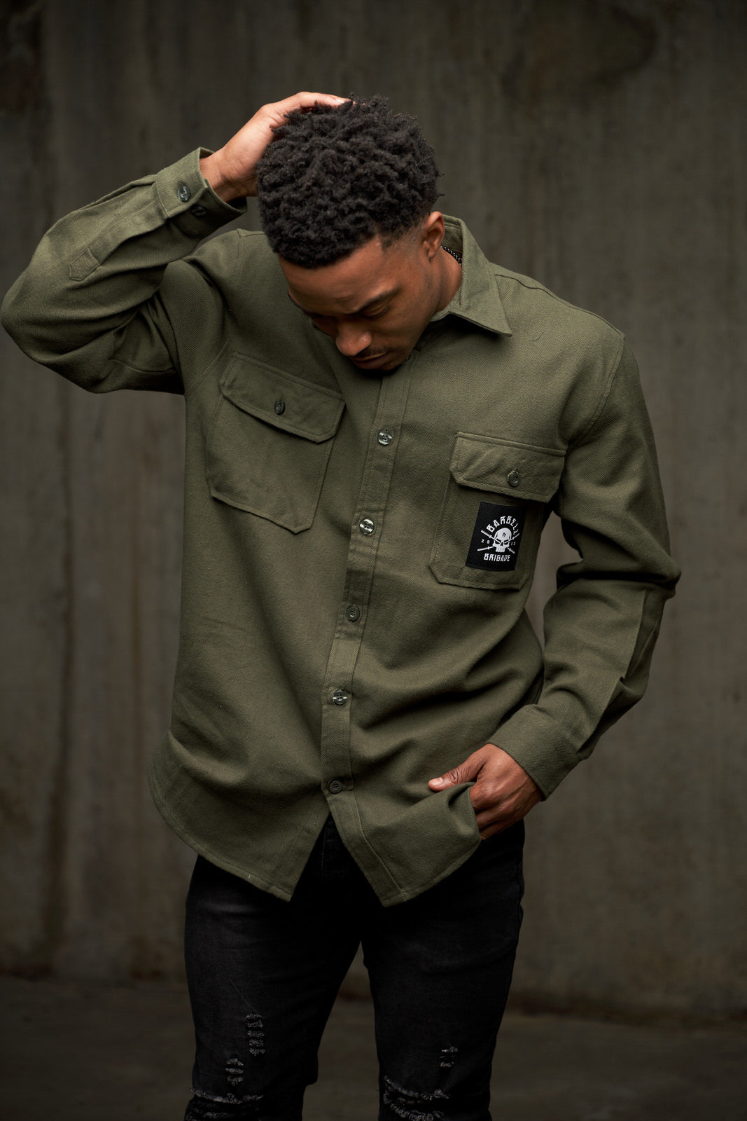 BB - Flannel Shirt (Olive Drab)