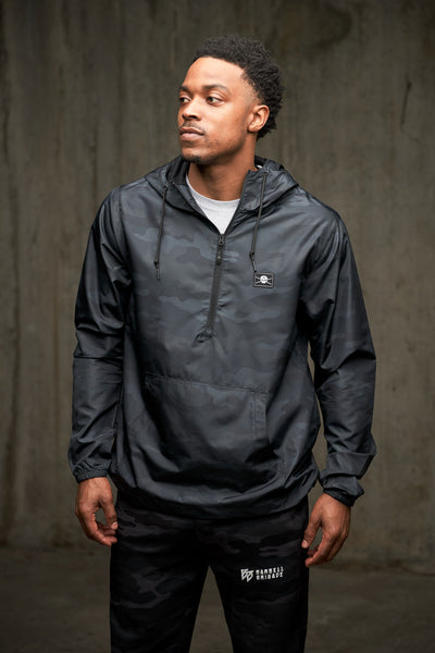 BB - Lightweight Anorak Jacket (Black Camo)