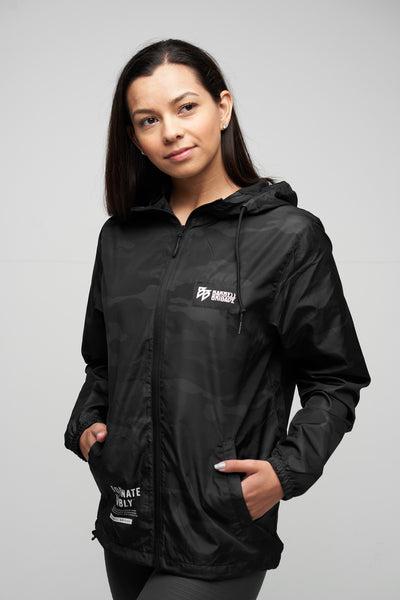 BB - Windbreaker Zip Jacket (Black Camo)