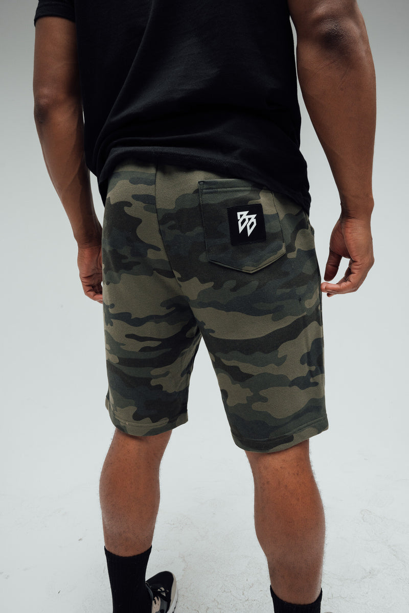 Skull - Shorts (Forest Camo)