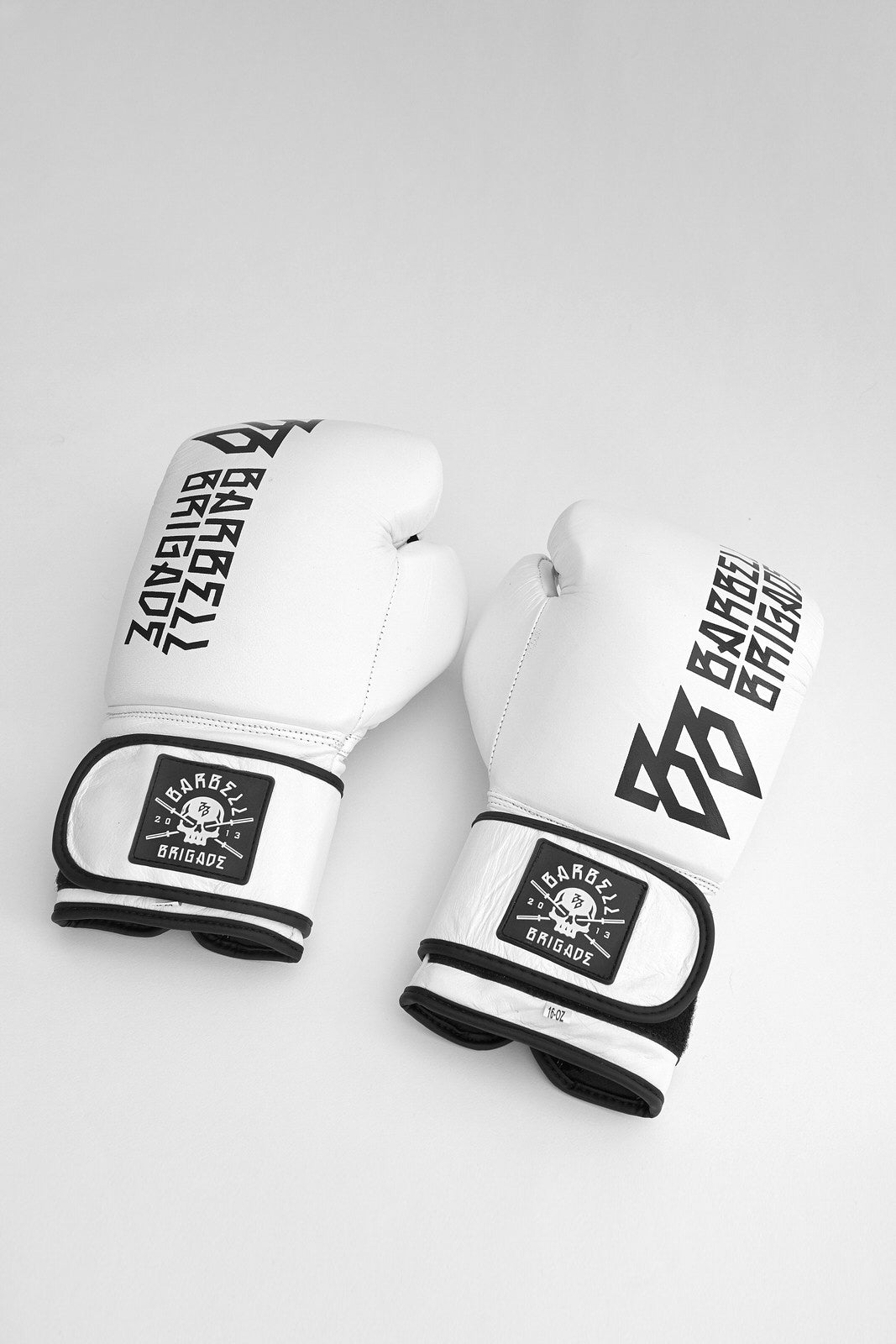 Top of white UVU boxing gloves