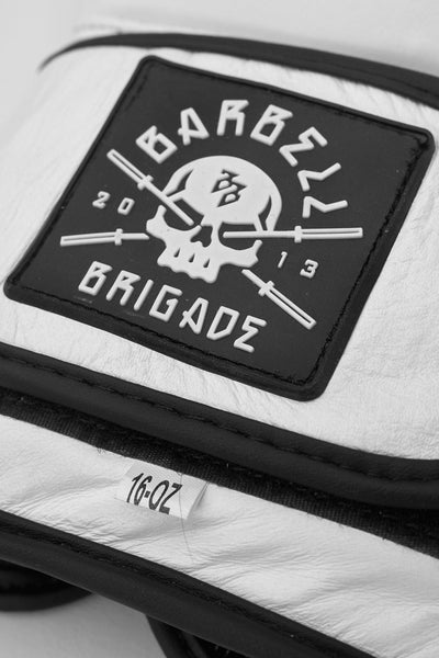 Barbell Brigade logo on boxing glove