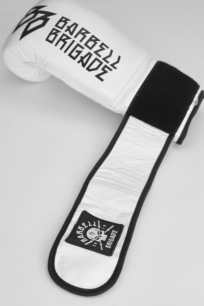 Single Boxing glove with strap extended