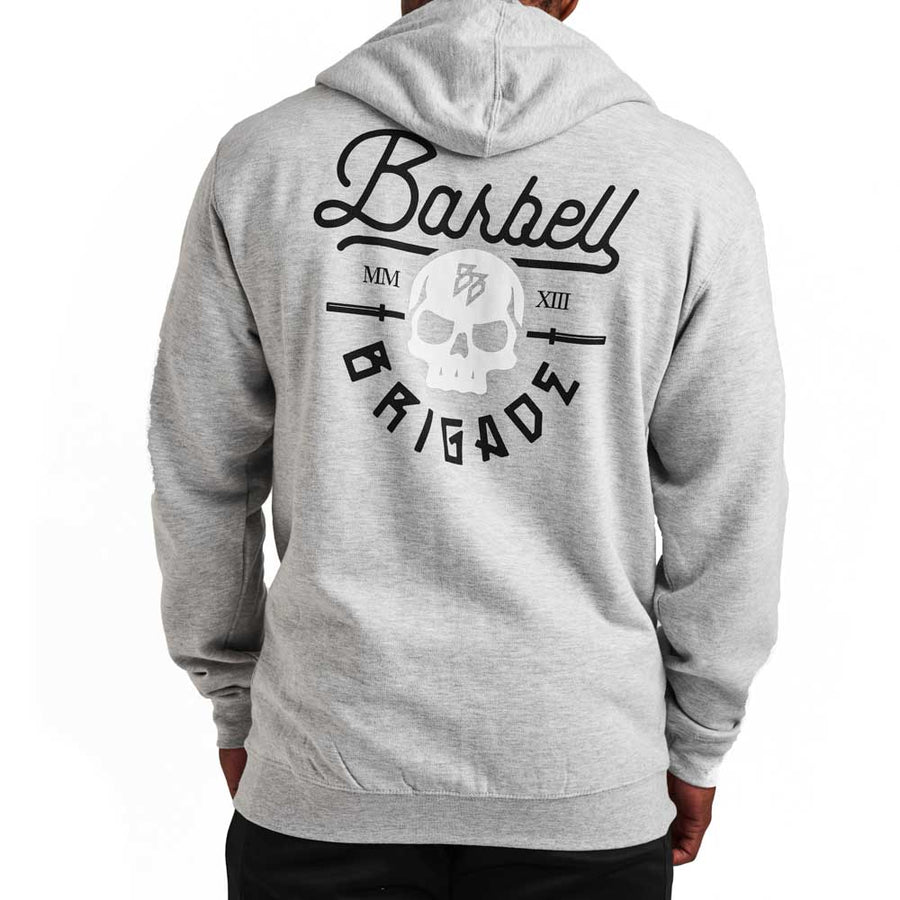 Rebirth Script - Zip Hoodie (Grey Heather)