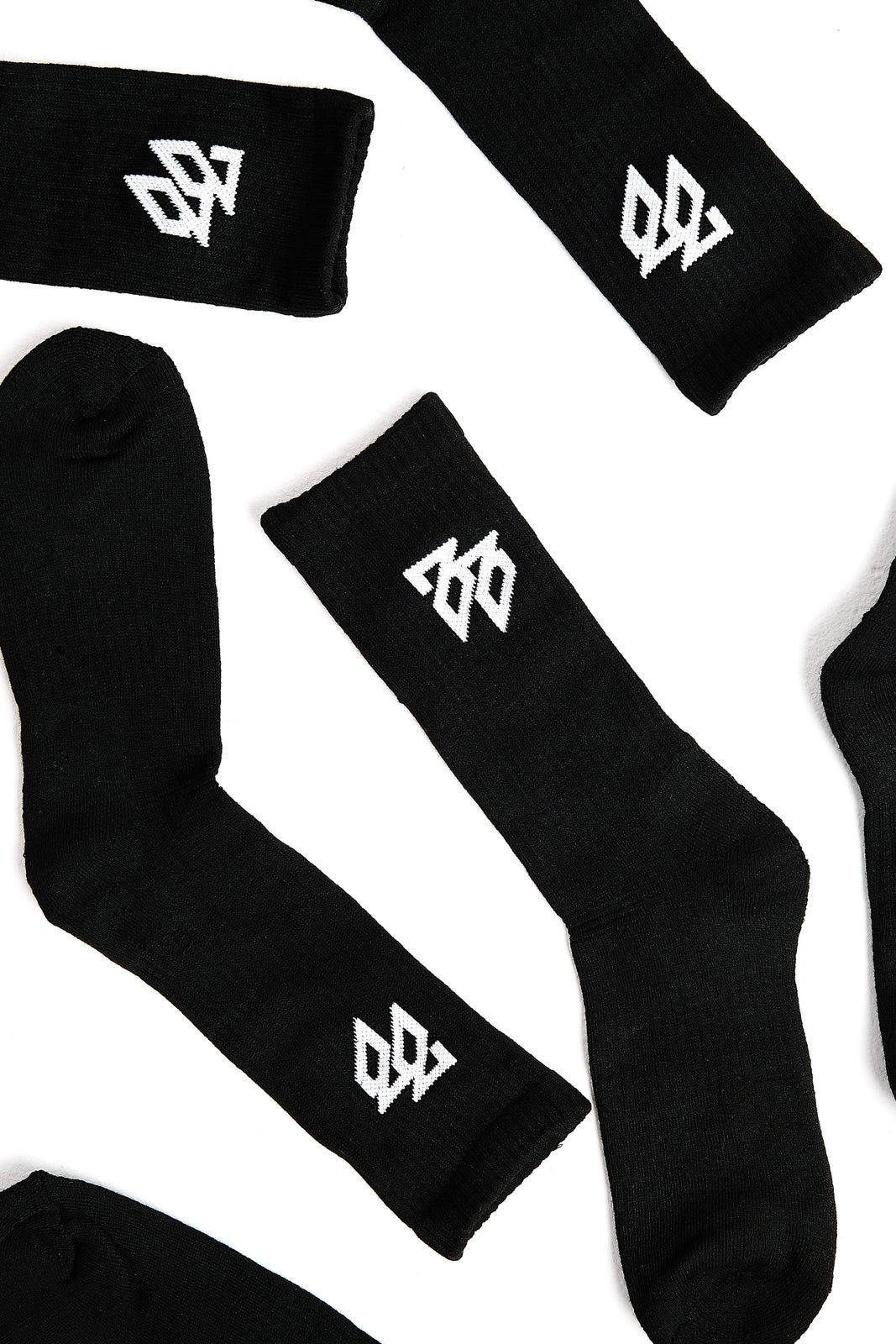 Crew Socks laid out on white background