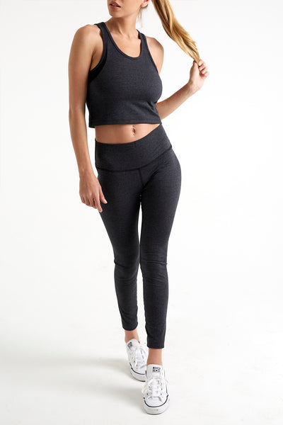 Lux - High Waisted Leggings (Titanium)