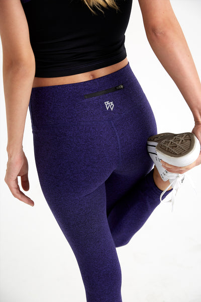 Lux - High Waisted Leggings (Violet)