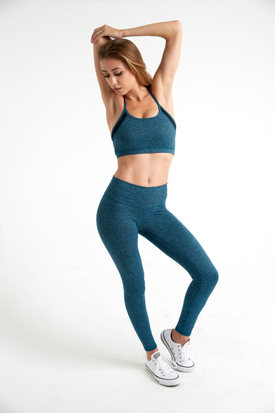 Lux - High Waisted Leggings (Teal)