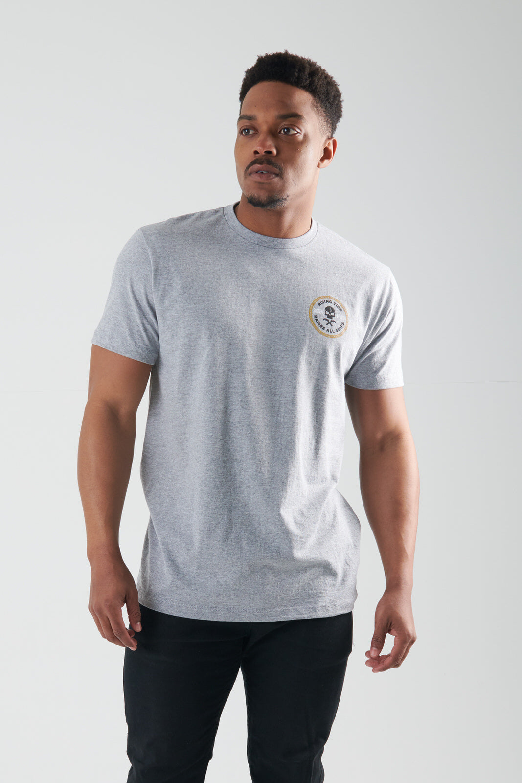 Skull & Pistols - Tee (Heather Grey)