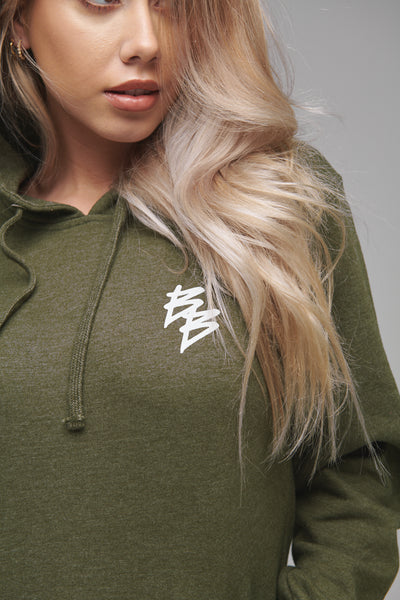 Battle Cry - Pullover Hoodie (Olive / White)