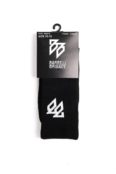 package of crew socks on white background