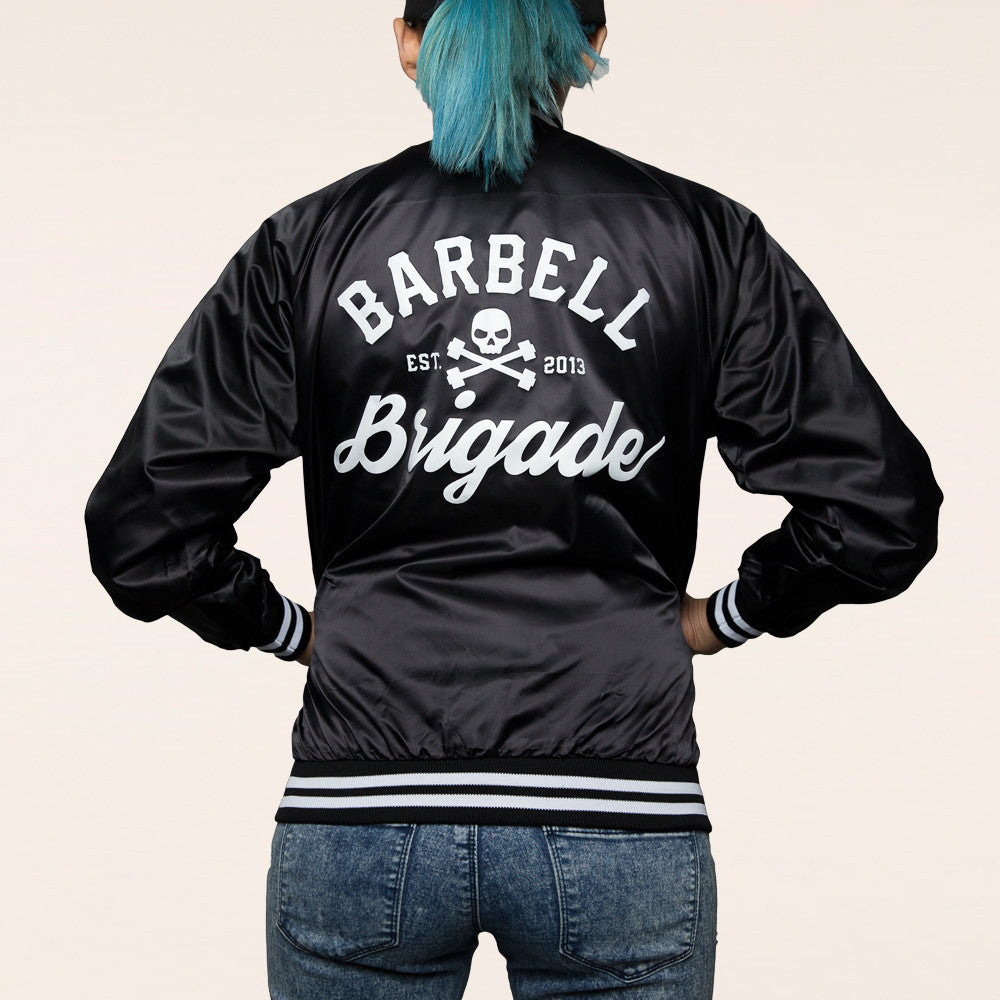Barbell Brigade - Women's Club Jacket (Black)