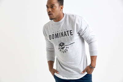 Humble Nation - Crewneck Sweater (Grey Heather)
