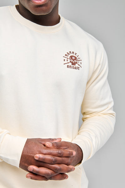 Rebirth - Pocket Pullover Crewneck (Cream)