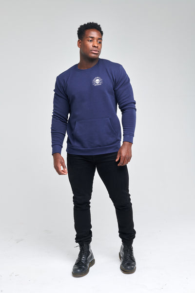 Rebirth - Pocket Pullover Crewneck (Navy)