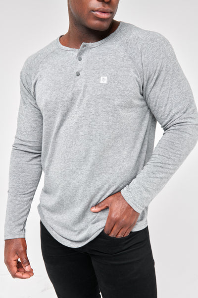 Legacy - Henley Tee (Charcoal Heather)