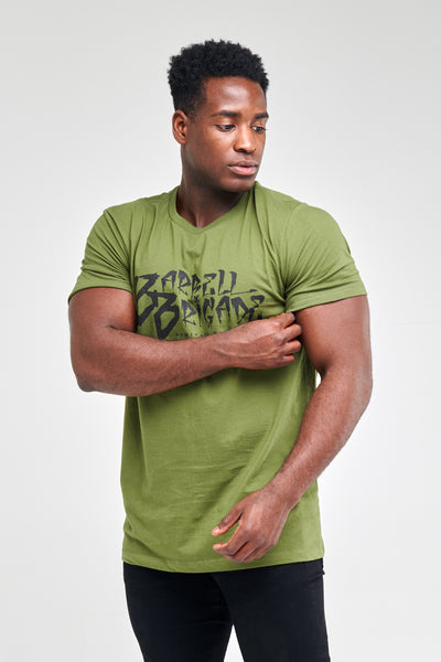 Rude Script - Tee (Army Green)