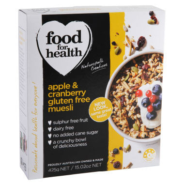 Apple and Cranberry Gluten Free Muesli
