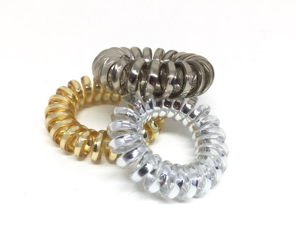 Spiral Hair Ties - No.1 Metallic