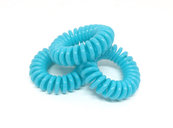 Spiral Hair Ties - Turquoise
