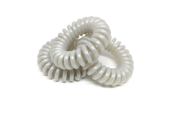 Spiral Hair Ties - No.2 Pale Grey