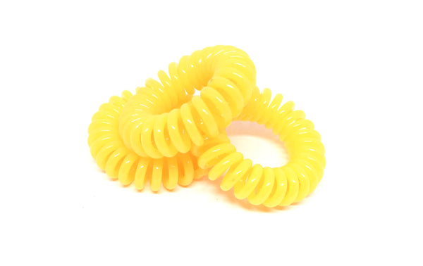 Spiral Hair ties - Yellow