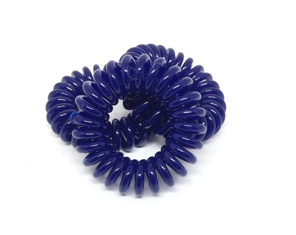 Spiral Hair Ties - Navy