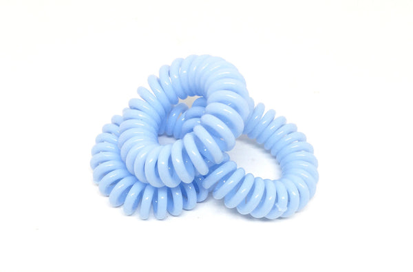 Spiral Hair Ties - Blue pale