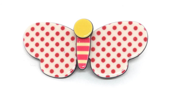 Inky butterfly - red polka