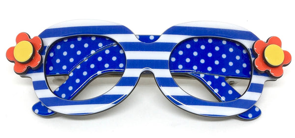 Sunglasses - Blue stripe