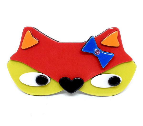 Foxy with bow - barrette