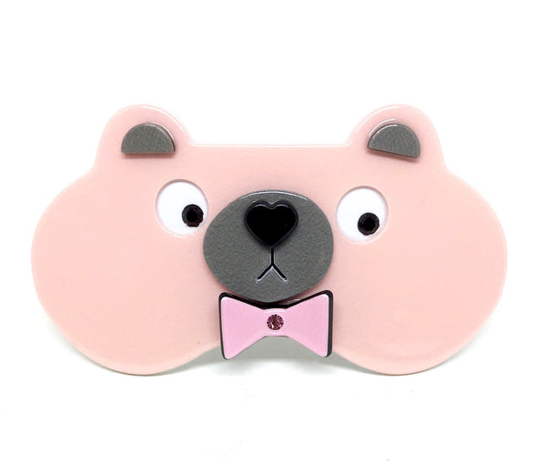 Bear with bow - barrette