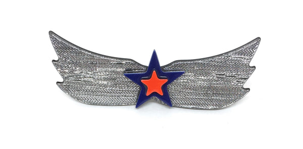 Shield with silver wings - hairclip
