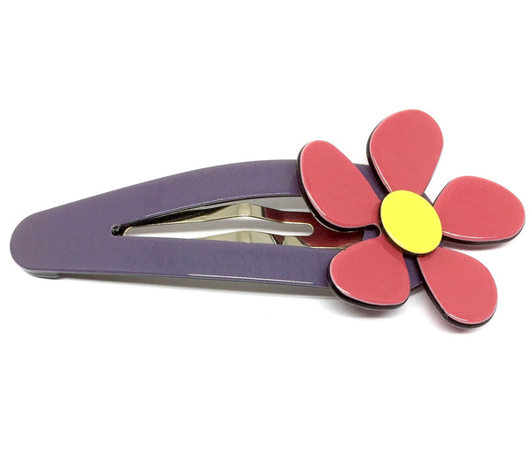 Pretty flower - large click clack - Grape